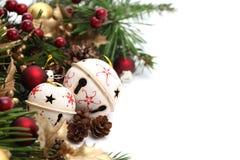 Frontera de la Navidad de la alarma de cascabeleo Imágenes de archivo libres de regalías