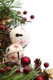 Frontera de la Navidad de la alarma de cascabeleo Imagenes de archivo