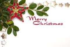 Frontera de la Navidad de la estrella Foto de archivo libre de regalías
