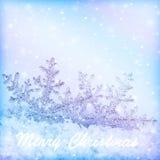 Frontera de la Navidad de los copos de nieve Fotografía de archivo libre de regalías