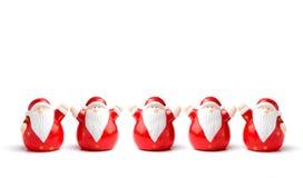 Frontera de la Navidad de Papá Noel imagen de archivo