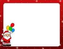 Frontera de la Navidad de Papá Noel Foto de archivo libre de regalías