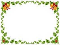 Frontera de la Navidad/hojas del acebo Imagenes de archivo