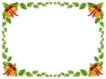Frontera de la Navidad/hojas del acebo Imágenes de archivo libres de regalías