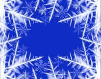Frontera de la nieve Foto de archivo libre de regalías