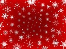 Frontera de la nieve helada - rojo libre illustration