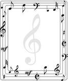 Frontera de la página de la música Fotografía de archivo