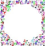 Frontera de la página de la muestra de la música del color Imagen de archivo