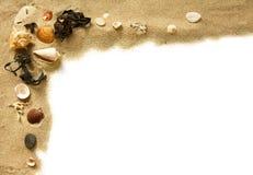 Frontera de la playa Imágenes de archivo libres de regalías