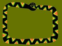 Frontera de la serpiente que muerde su propia cola Imagen de archivo libre de regalías