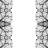 Frontera de la silueta del árbol aislada en el fondo blanco Ilustración del vector stock de ilustración