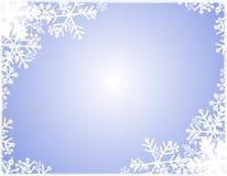 Frontera de la silueta del copo de nieve Imagen de archivo libre de regalías