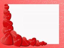 Frontera de la tarjeta del día de San Valentín Imagenes de archivo