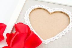 Frontera de la tarjeta del día de San Valentín Fotografía de archivo libre de regalías
