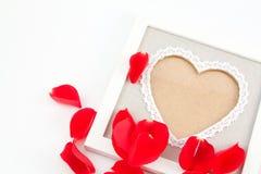 Frontera de la tarjeta del día de San Valentín foto de archivo libre de regalías