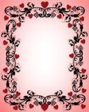 Frontera de la tarjeta del día de San Valentín 3D Fotos de archivo
