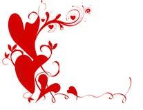 Frontera de la tarjeta del día de San Valentín Imagen de archivo libre de regalías