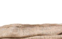 Frontera de la textura de la arpillera Imagenes de archivo