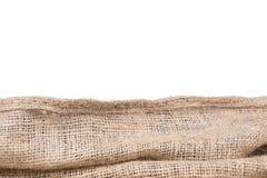 Frontera de la textura de la arpillera Fotografía de archivo