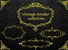 Frontera de la vendimia del vector Imagen de archivo