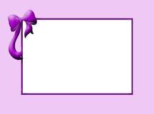 Frontera de la violeta del bebé ilustración del vector
