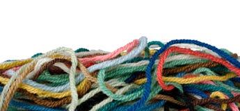 Frontera de lanas Imágenes de archivo libres de regalías