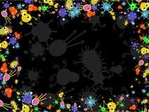 Frontera de las bacterias Fotografía de archivo
