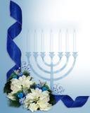 Frontera de las cintas de Hanukkah stock de ilustración