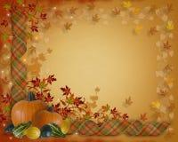 Frontera de las cintas de la caída del otoño de la acción de gracias Imagenes de archivo