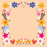 Frontera de las flores Fotos de archivo