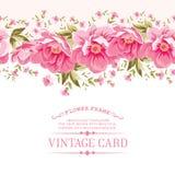 Frontera de las flores para la textura inconsútil Diseño de la materia textil Imagenes de archivo