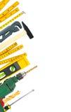 Frontera de las herramientas de funcionamiento Imágenes de archivo libres de regalías