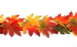 Frontera de las hojas coloreadas brillantes de la tela - acción de gracias Imagen de archivo libre de regalías