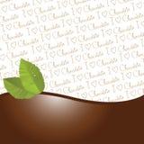 Frontera de las hojas del chocolate y de menta Imágenes de archivo libres de regalías