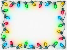 Frontera de las luces de la Navidad