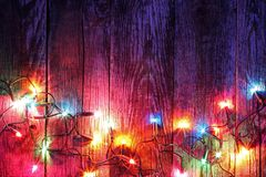 Frontera de las luces de la Navidad foto de archivo libre de regalías