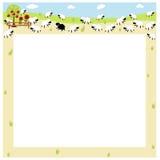 Frontera de las ovejas stock de ilustración