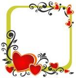 Frontera de las tarjetas del día de San Valentín Imagenes de archivo