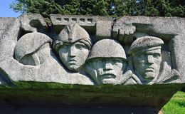 Frontera de Lembolovo, monumento a la victoria. St Petersburg, Imagen de archivo