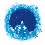 Frontera de los copos de nieve coloreados Fotos de archivo