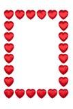 Frontera de los corazones de la tarjeta del día de San Valentín Imágenes de archivo libres de regalías
