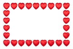 Frontera de los corazones de la tarjeta del día de San Valentín Foto de archivo