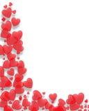 Frontera de los corazones de la tarjeta del día de San Valentín Fotografía de archivo libre de regalías