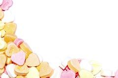 Frontera de los corazones del caramelo Imágenes de archivo libres de regalías