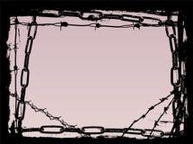 Frontera de los encadenamientos 2 del negro ilustración del vector