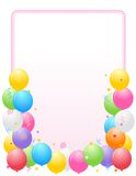 Frontera de los globos/marco coloridos del partido Imagen de archivo