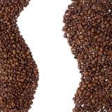 Frontera de los granos de café imagen de archivo libre de regalías