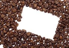 Frontera de los granos de café fotos de archivo