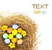 Frontera de los huevos de Pascua Imagen de archivo libre de regalías