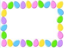Frontera de los huevos de Pascua libre illustration